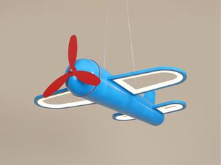 【包邮 偏远地区除外】 现代 铁艺+亚克力DG9503 蓝色460 三色光 吊灯(含光源 32W)