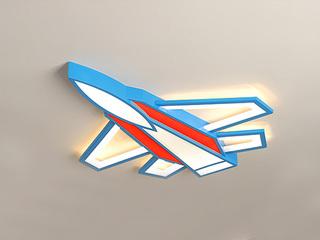 【包邮 偏远地区除外】 现代 铁艺+亚克力DG9505 蓝+红550三色光 吸顶灯(含光源 36W)