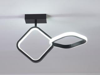 【包邮 偏远地区除外】 现代简约 LED光源 遥控三色调光正白光暖光中性光 黑色菱形壁灯高低户通用(含光源)