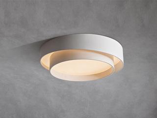 【包邮 偏远地区除外】 现代 铁艺+亚克力 白色600 三色光 吸顶灯(含光源 LED52W)
