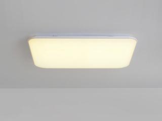 【包邮 偏远地区除外】 现代 铁艺+亚克力 白色1100*700 三色光 吸顶灯(含光源 LED96W)
