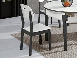 现代简约  E1级板材柜体橡胶木脚 餐椅(单把价格 需双数购买 单数不发货)