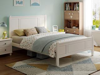 现代简约 直屏1.2米 实木 儿童板木床(含实木床排 床屏款式与1.5米有差异)