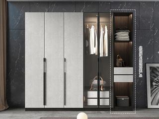 轻奢风格 高级黑白色 环保实用 长0.4米 单门边柜