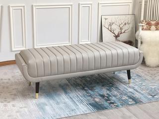轻奢 全实木内架 真皮 舒软海绵 床尾凳