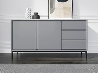 极简风格 防刮耐磨岩板台面 优质磨砂五金脚 灰色长1.2米餐边柜