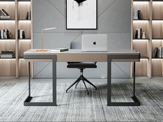 极简风格 防刮耐磨岩板台面 实木松木抽屉 长1.2米书桌