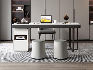 极简风格 环保皮艺 柔软舒适 实木内架 茶凳圆凳