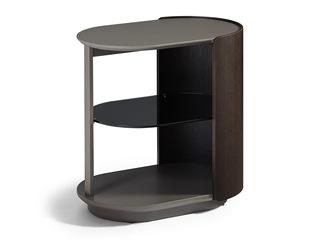 极简风格 进口烟熏木工艺 简易实用设计 三层置物边柜