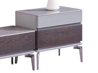 极简风格 防刮耐磨岩板台面 质感细腻 高级设计多容量储物 二斗柜