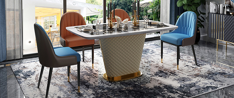 慕梵希 輕奢大理石餐桌