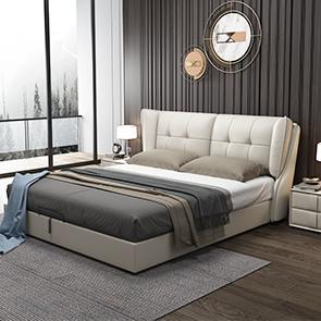 皮坊工藝 現代簡約 仿真皮 1.8米床